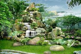 Mẫu hòn non bộ sân vườn đẹp