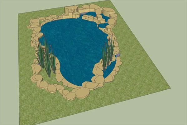kích thước của một hồ cá koi
